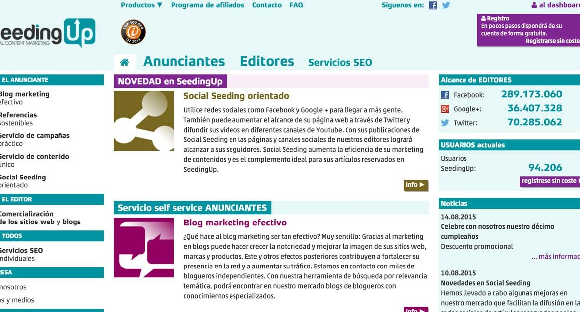 SeedingUp – Marketing de Influencers para Marcas